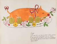 Andy Warhol, aus Wild Rasperries, 1959, Illustriertes Buch, Privatbesitz